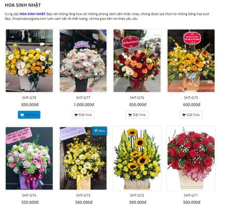 Shop hoa quận Bình Thạnh nhiều mẫu hoa đẹp giá rẻ