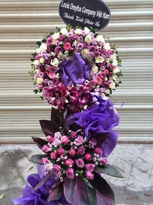 Hoa chia buồn màu tím HN