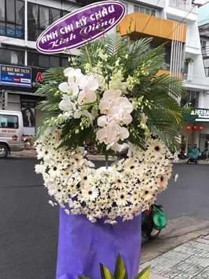 Hoa chia buồn nhà tang lễ cầu giấy